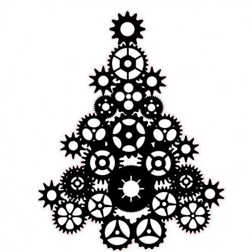 Steampunk Tree Stamp - Steampunk