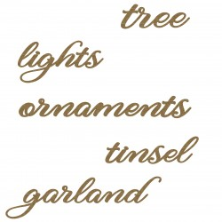 Decorate Your Tree Words