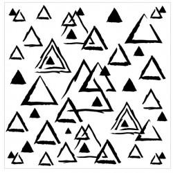 Distressed Triangle Stencil