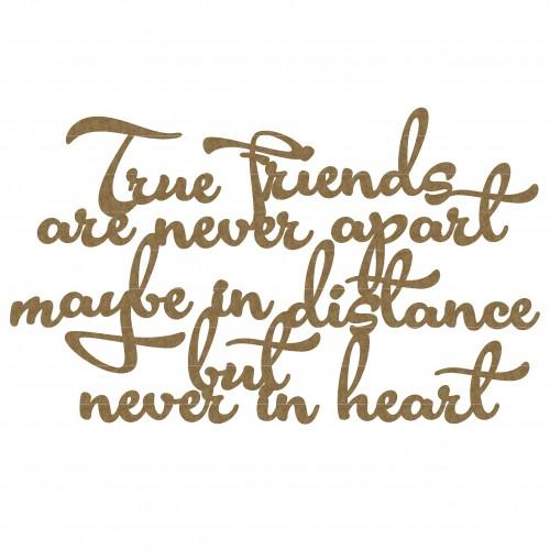 True Friends Quote - Words