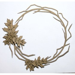 Twig Frame with Fall leaves