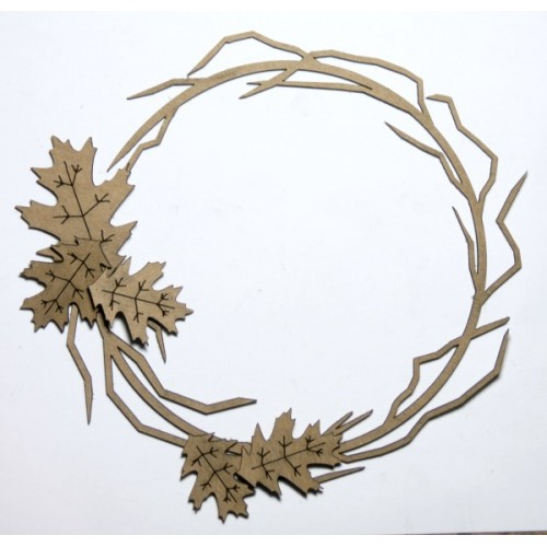 Twig Frame with Fall leaves - Frames