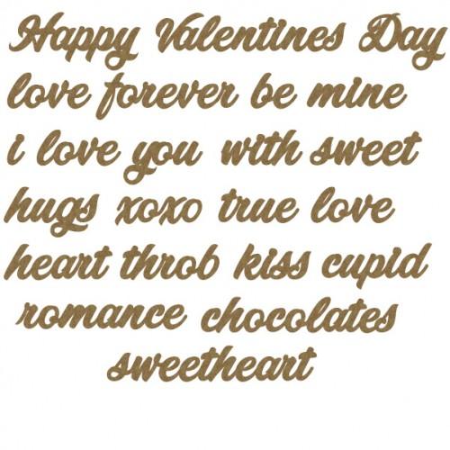 Valentines Sentiments - Words