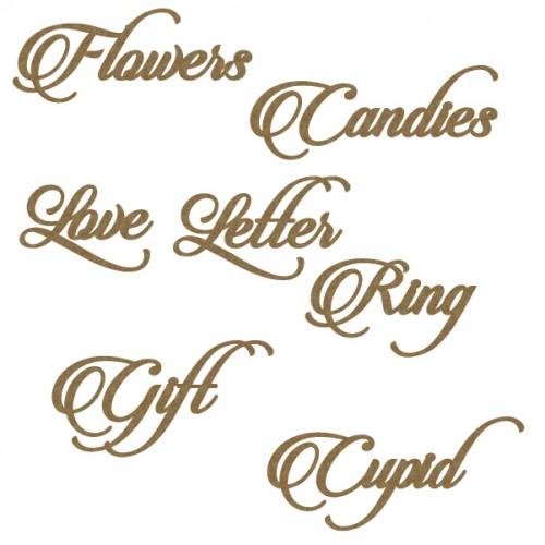 Valentines Word Set - Words