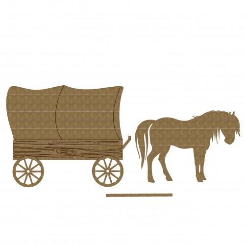 Vintage Carriage - Chipboard