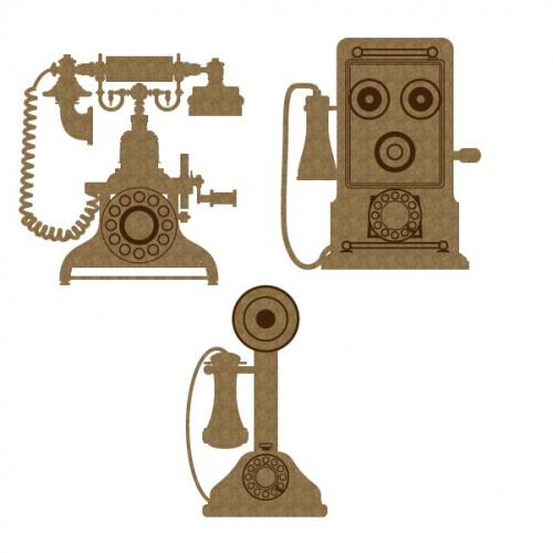 Vintage Telephones - Chipboard