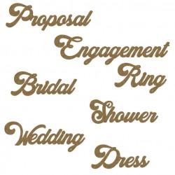 Wedding Word Set