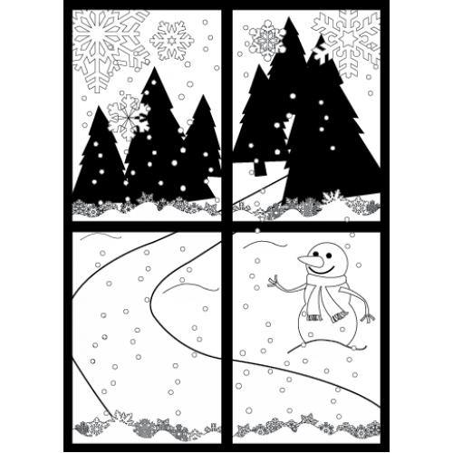 Winter Wonderland Stamp - Backgrounds