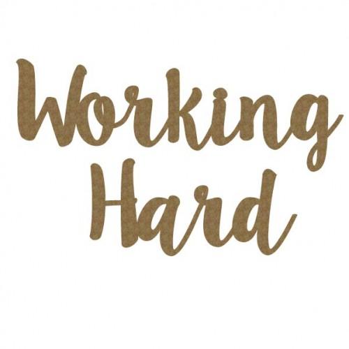 Working Hard - Words