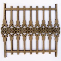 Wrought Iron Fence 2 (Set of 2)