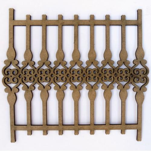 Wrought Iron Fence 2 (Set of 2) - Fences and Gates