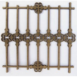 Wrought Iron Fence 3 (Set of 2)