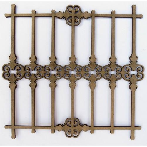 Wrought Iron Fence 3 (Set of 2) - Fences and Gates