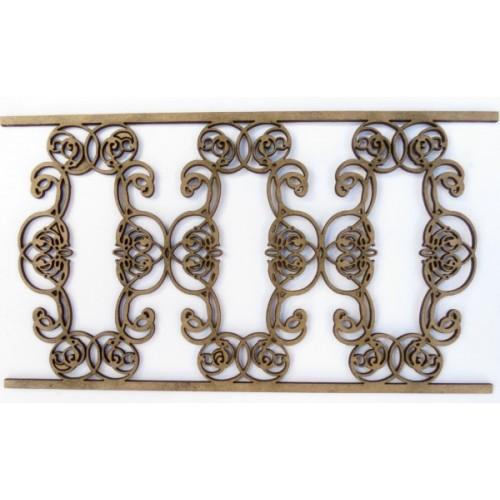 Wrought Iron Fence 4 (Set of 2) - Fences and Gates