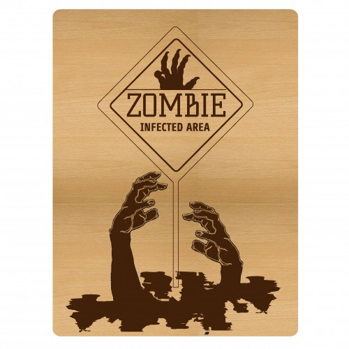 "Zombie Pocket Card - 3""x4"" Cards"