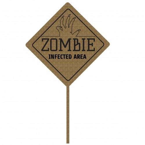 Zombie Sign - Halloween