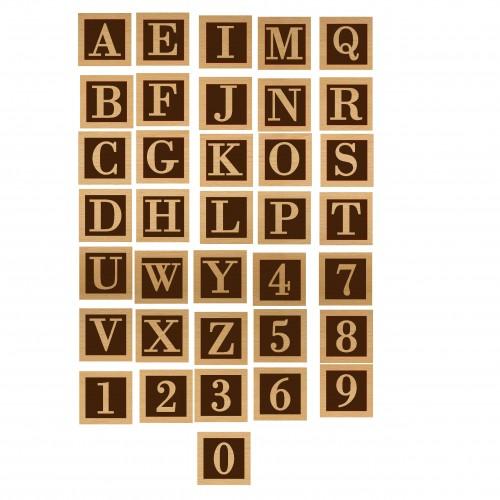 Alphabet Blocks - Wood Veneers