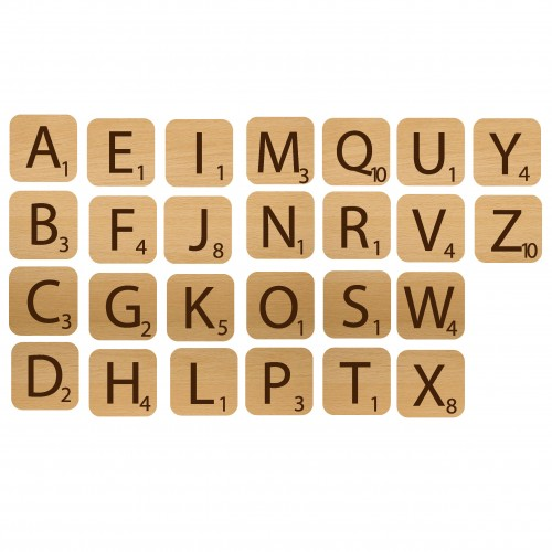 Alphabet Game Pieces - Wood Veneers