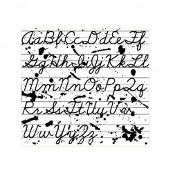 Alphabet Cursive Stamp