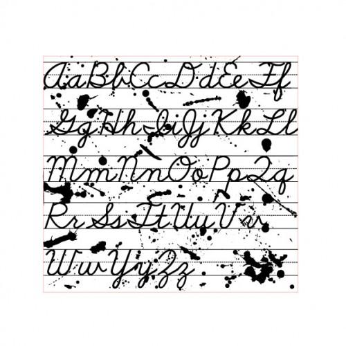 Alphabet Cursive Stamp - Backgrounds