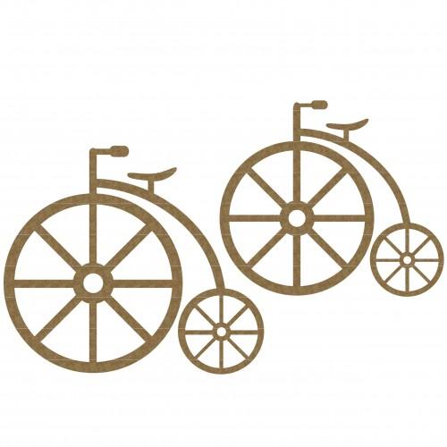 Antique Bikes - Chipboard