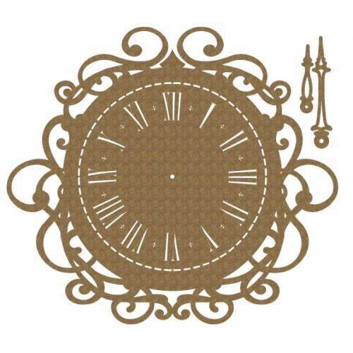 Antique Clock - Chipboard
