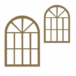 Arched Windows ( Set of 2)