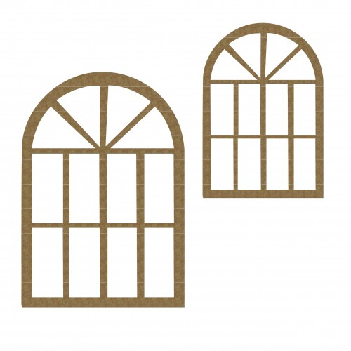 Arched Windows ( Set of 2) - Windows and Doors