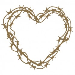 Brabed Wire Heart Frame