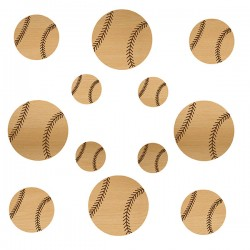Baseball Wood Set