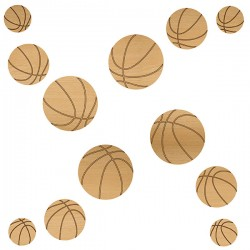 Basketball Wood Set