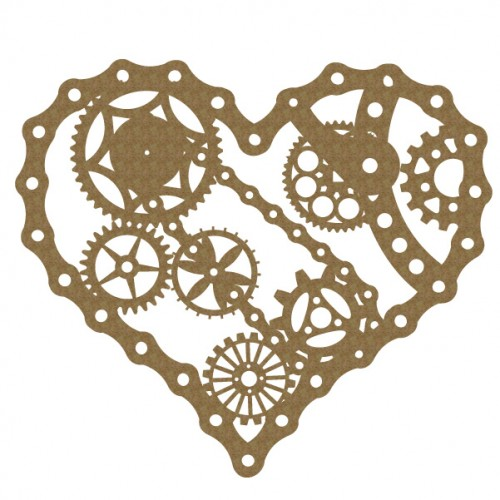Bicycle Chain Heart - Steampunk