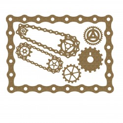 Bicycle Chain Frame with Gears