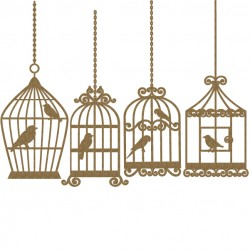 Bird Cage    4 piece set