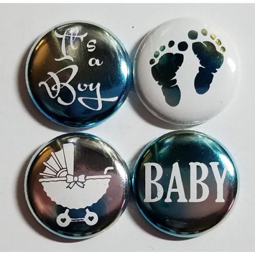 Baby Boy Blue Watercolor Flair - Flair