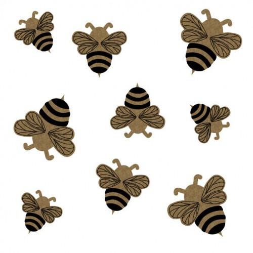 Bumblebees - Wood Veneers