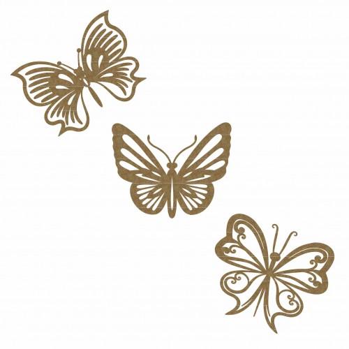 Butterflies (Set of 3) - Wings
