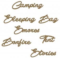 Camping Word Set