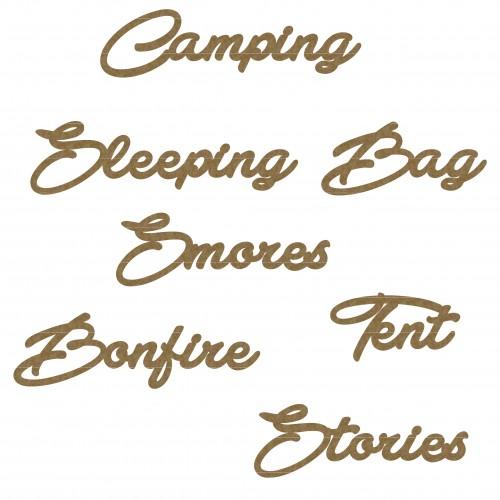 Camping Word Set - Summer