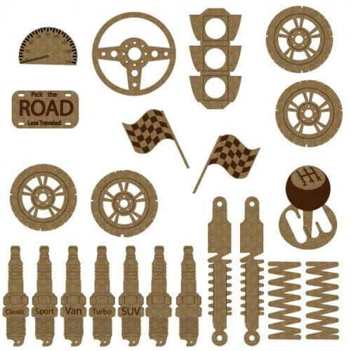 Car Part Set - Chipboard