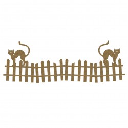 Cats on Fence Border