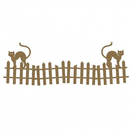 Cats on Fence Border - Borders
