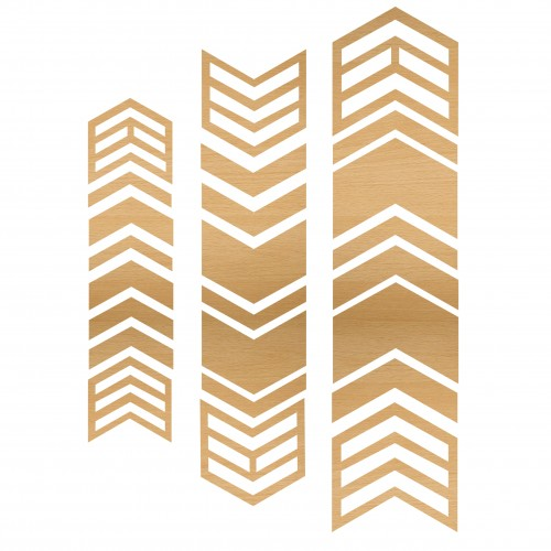 Chevron Pieces - Wood Veneers