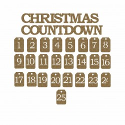 Christmas Countdown Title and Tags