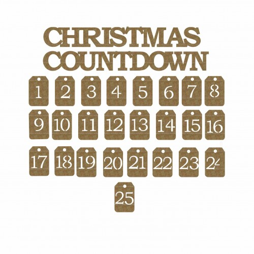 Christmas Countdown Title and Tags - Christmas