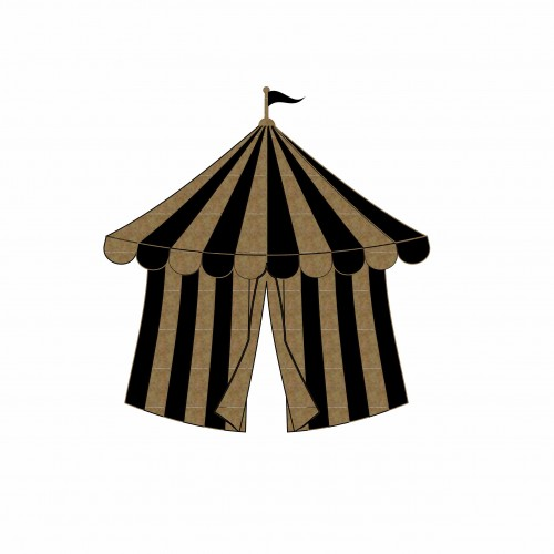 Circus Tent - Chipboard