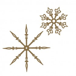 Clock Hand Snowflakes