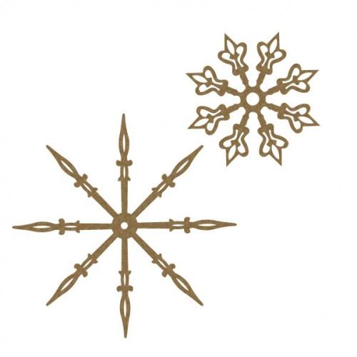 Clock Hand Snowflakes - Steampunk