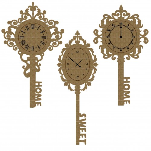 Clock Keys - Chipboard