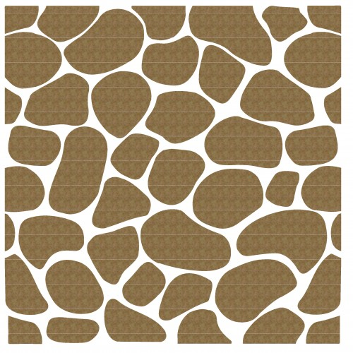 "Cobblestone Panel 2 (both panel and stones) - 6"" x 6"" Lattice Panels"